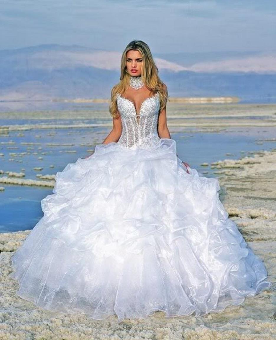 Свадебные платье пушистые