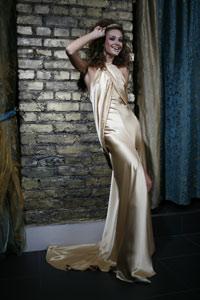 Английское дизайнерское вечернее платье в стиле ретро.  Натуральный шелк.